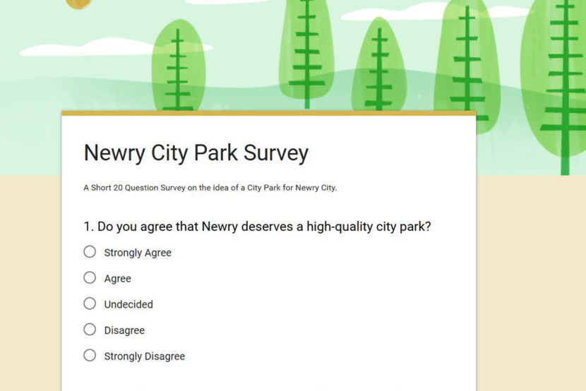 Newry City Park Survey
